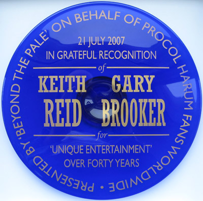 Keith's plaque
