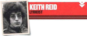 Keith Reid, lyricist