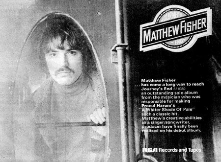 Nice, big ad for Matthew Fisher's album on page 19. Note that his record company can not spell Procol Harum correctly!