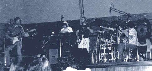 How Procol Harum looked on stage during this tour